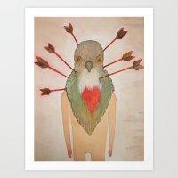 Bleeding Heart (Oh Such … Art Print