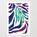 Zebra/B - for iphone Art Print
