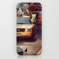 iPhone Cases featuring A LAMA IN NEW YORK ***  NEVER STOP EXPLORING VIII  by Monika Strigel