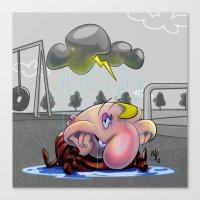 Why so glum, chum? Canvas Print
