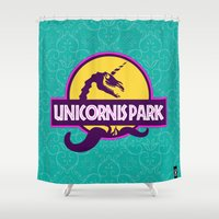 Unicornis Park Shower Curtain