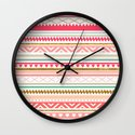 Aztec love Wall Clock