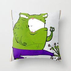 CRAPHULK - FAN ART AVENGER HULK Throw Pillow