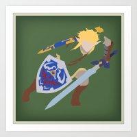 Link, He's BA (Legend Of… Art Print