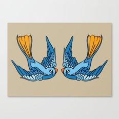 Swallow Tattoo Canvas Print