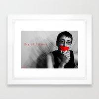 Day of Silence (Derreck).  Framed Art Print