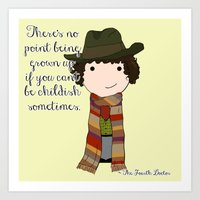 Doctor Who The Fourth Do… Art Print