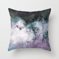 Soaked Chroma Throw Pillow