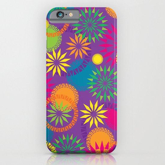 Spikeyflower Purple iPhone & iPod Case