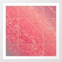 Pink Marble Texture G281 Art Print