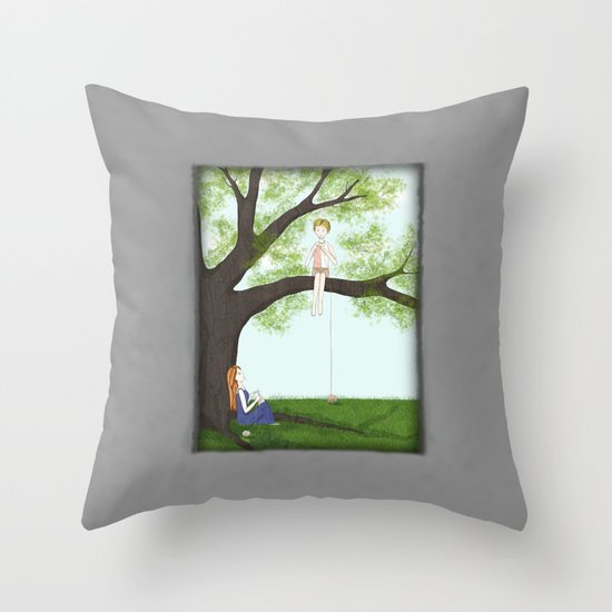 Knit Together Throw Pillow
