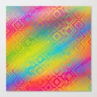inca rainbow Canvas Print