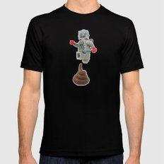 Poo jumping Black SMALL Mens Fitted Tee