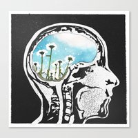 Brain Flowers Canvas Print