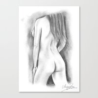 Nude Pencil Drawing - Ashley Rose Canvas Print