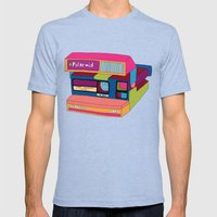 Captures Great Moments (… Mens Fitted Tee Tri-Blue SMALL