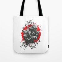 Black Samurai Tote Bag