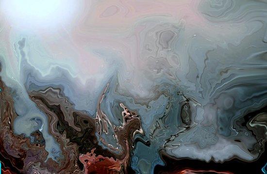 BENEATH THE DEEP BLUE SEA...ABSTRACT Art Print
