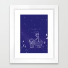 Live Your Own Adventure Framed Art Print