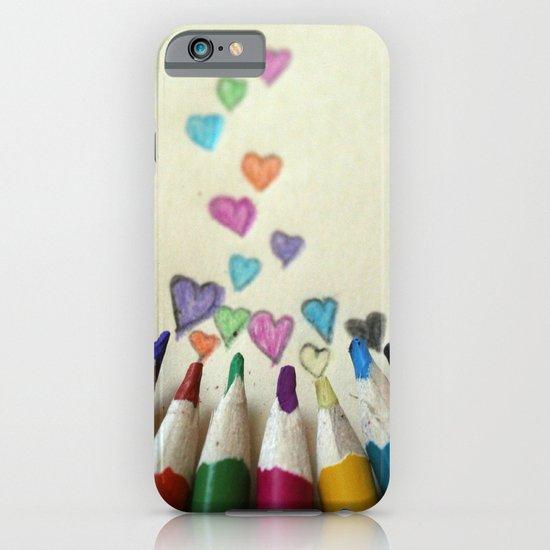 pencil crayon love iPhone & iPod Case