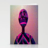 RED SKELETON Stationery Cards