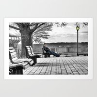 Alone On The Hill Art Print