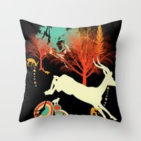 African Life Throw Pillow