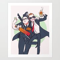 Three Flavours Cornetto Art Print