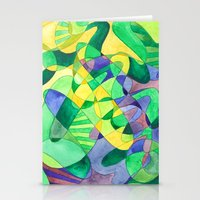 Green Doodle Stationery Cards