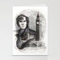 sherlock Stationery Cards featuring Sherlock  by RileyStark