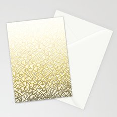 Gradient yellow and white swirls doodles Stationery Cards