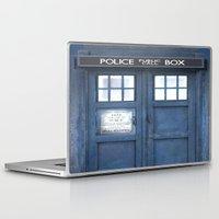 tardis Laptop & iPad Skins featuring Tardis by bimorecreative