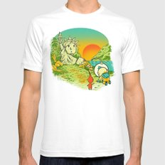 Planet of the Pikminis Mens Fitted Tee White SMALL