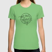 GET OUT THERE & TRY Womens Fitted Tee Grass SMALL