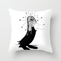 magic penguin Throw Pillow