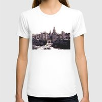 Funkytown - New York Cit… Womens Fitted Tee White SMALL
