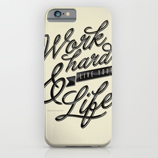 Work Hard iPhone & iPod Case
