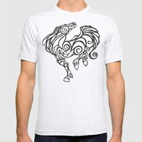 Horse Swirls Mens Fitted Tee Ash Grey SMALL