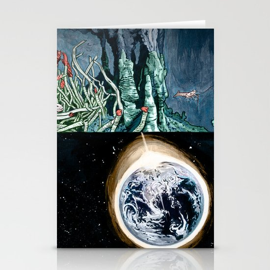 Life on the event horizon 1 Stationery Card