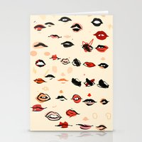 lips Stationery Cards featuring Lips by Visualcrafter