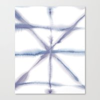 Light Dye - Folding Blue… Canvas Print