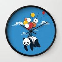Flying Panda Wall Clock