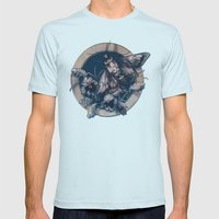 Circle Of Life Mens Fitted Tee Light Blue SMALL