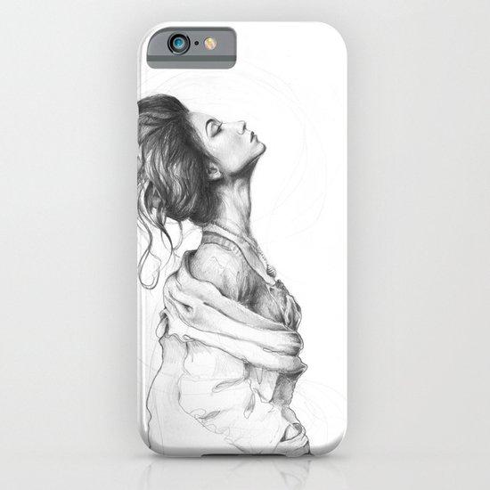 Pretty Lady Pencil Portrait Fashion Art iPhone & iPod Case