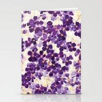 Violet Bloom Stationery Cards