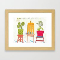 Dear Spring, please hurry up!!!!! Framed Art Print