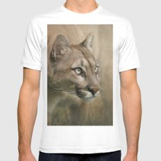 Puma profile SMALL Mens Fitted Tee White