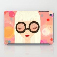 Girl with big glasses (II) iPad Case