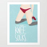 Knee Socks Art Print