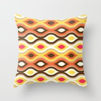 Back To The 70s Throw Pillow